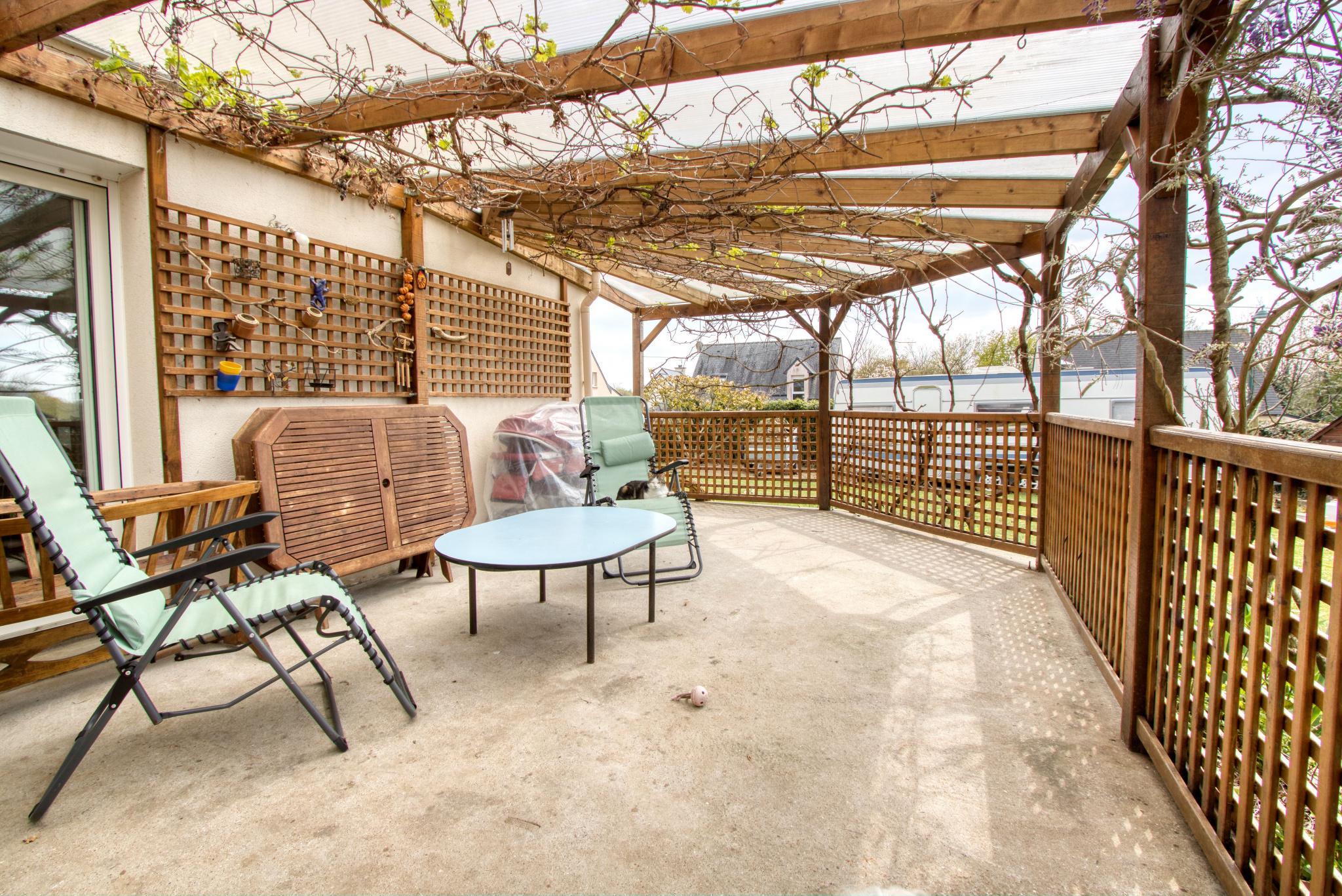 Terrasse couverte de 25 m2